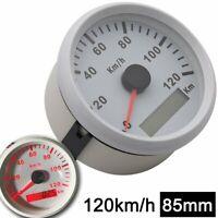 85mm Motorcycle GPS Speedometer Odometer Gauge 0-120km/h for Boat Car Waterproof