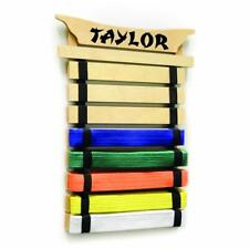 Milliard Karate Belt Display – Holds 8 Martial Arts Belts - Personalize with Sti