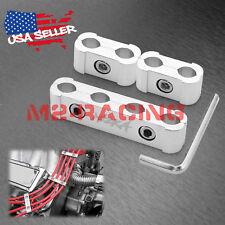 3Pcs Silver Aluminum Engine Spark Plug Wire Separator Divider Organizer Clamp
