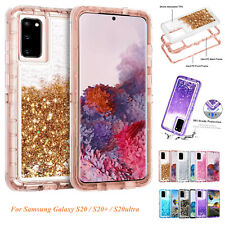 For Samsung Note 20 Ultra 10 9 8 Plus S20 S10 S9 S8 Defender Glitter Liquid Case