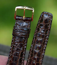 NEW GENUINE OMEGA CROCODILE 12mm LIZARD WATCH STRAP WRIST WATCH BAND BROWN
