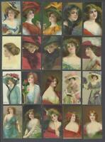 1908 ITC Beauties Art Series C243 Tobacco Cards Complete Set of 30