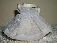 "Vintage 1950s 8"" Doll Light Blue Organdy Dress Satin Collar Slip Ginny Wendy"