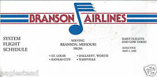 Airline Timetable - Branson - 01/05/93 (US,MO)
