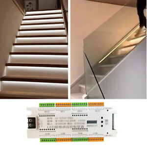 motion sensor 32 Channel dimming Stair streamline lamp under cabinet 12V Address