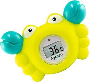 AYCORN® Baby Thermometer Crab Bath Safety Toddler Bathtub Temperature Monitor