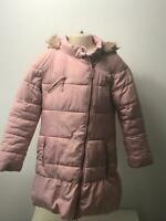 GIRLS NEXT LIGHT PINK HOODED PADDED QUILTED COAT JACKET KIDS AGE 9-10 YEARS