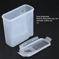 4L Pet Dog Food Storage Container with Graduated Scale Transparent Buckle Sealed