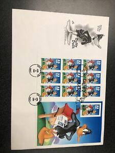 US 3307 Imperf Daffy Duck Souvenir Sheet First Day Of Issue Artcraft Cover 1999