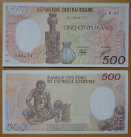 ECCAS Central African Republic Banknote 500 Frances 1987 UNC