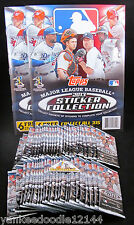 2013 Topps MLB Baseball Stickers 50 unopened Sticker Packs/8 Stickers & 2 Albums