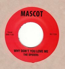 """New...SPIDERS re """"Why Don't You Love Me"""" b/w """"Hitch Hike"""" Mascot 45 Alice Cooper"""
