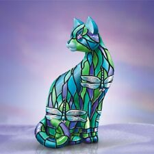 Dragonfly - Purr-Fect Relflections of Tiffany Cat Figurine Hamilton Collection