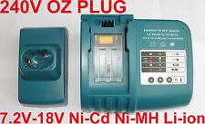 Battery Charger for Makita Battery 7.2V 9.6v 12V 14.4V 18V Ni-MH Li-ion Ni-Cd OZ
