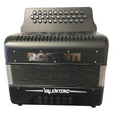 Rossetti Valentino FBE 31 Button Diatonic Accordion With Hard Case, Black