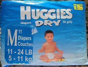 Vintage Huggies diapers (Plastic backed)