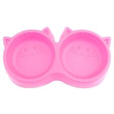 Cara de gato plástico PET del medio ambiente no tóxica alimentos Tazón de doble