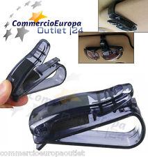 clip porta occhiali da vista da sole molletta parasole auto specchio retrovisore