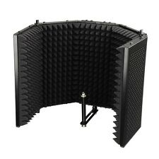 Microphone Mic Isolation Absorber Shield w/Sound Dampening Foam Recording Studio