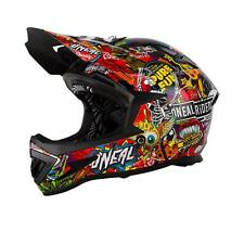 O'Neal Warp DH Helm Crank Mountainbikei Downhill MTB Fahrrad FR AM Sticker Bomb