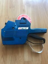 Avery Dennison 210 Price Label Gun Manual Hand Labeler Blue with Orange Labels