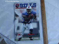 Dec 2006 Buffalo Bills Game Day Program vs Miami Dolphins Roscoe Parrish Cover
