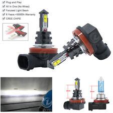 2 Bulbs H8 White High Power 80W LED Fog Light For Hyundai ix35 i30 i40 2012-2016