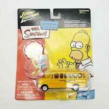 Johnny Lightning The Simpsons Springfield Elementary Yellow School Bus Die Cast