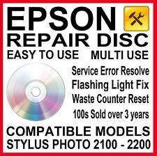 Epson Stylus Photo 2100 2200: Reset & Repair, Service Required Reset Disc