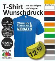 FUN T Shirt  Wunschdruck Logo Wunschtext, entwerfen lassen  oder dieses S-5XL #3