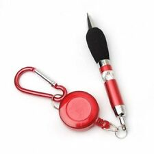Red Retractable Badge Reel Pen Belt Clip & Carabiner N3