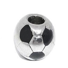 Soccer Ball Charms for European Snake Chain Charm Bracelet