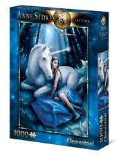 Fantasy Puzzle 1000 Pieces Blue Moon Anne Stokes Unicorn Jigsaw by Clementoni