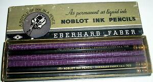 3 Lot Vintage Eberhard Faber Noblot Ink Pencils Bottle of Ink in a Pencil NOS