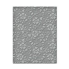 Spellbinders Ses008 Flowers Leaves Embossing Folder