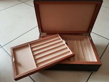 Cave à stylos cuir display écrin coffret plume leather case fountain pen nib #16