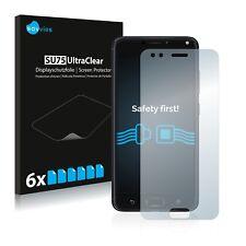 6x Displayschutzfolie Asus Zenfone 4 ZE554KL Schutzfolie Klar Folie Displayfolie