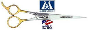 """MILLERS FORGE 88 Filipino STRAIGHT SHEAR 8 1/4""""Scissor&Case Pet Dog Cat Grooming"""
