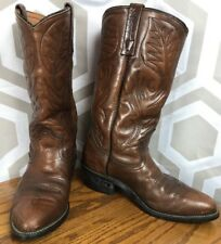 VTG 9801-1 Red Wing Brown Leather Pecos Engineer Boots Men's 7.5 B USA ShipsFree