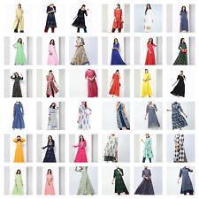 Indian Bollywood Designer Women Anarkali Gown Kurta Kurti Tunic Ethnic DressGift