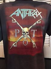 Vtg Anthrax Persistence Time Tour Shirt Sz XL Ozzy Priest WASP Rock Maiden Metal