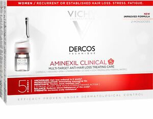 Vichy Dercos Aminexil Clinical 5 Women Anti Hair Loss Serum 21x6ml Women&Man