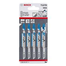Bosch T127D Jigsaw blades aluminium metal cutting 2608631017 Pack of 5