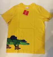 New Hanna Andersson Boys Art Tee 160 16 year NWT Top Hiking Alligator Gator