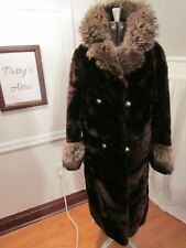 SALE! Vintage New Yorker Alysha Seal Dyed Lamb Coat Fox Collar Cuffs Yaegers Fur