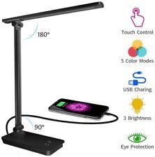 Lampe De Bureau LED Controle Tactile Chargeur USB Smartphone Rotative Reglable