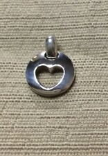 Tiffany & Co Stencil Heart Cut Out 1999 Charm Solid 925 Sterling Silver Pendant