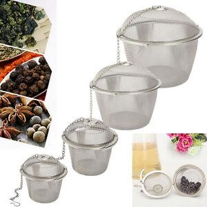 Practical Tea Ball Spice Strainer Mesh Infuser Filter Stainless Steel HerbalAGU
