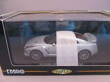 1/43 EBBRO Nissan GT-R Black Edition Silver MIB