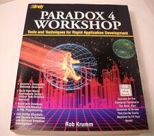 Paradox 4.0 Workshop by Rob Krumm - Vintage Computer Book + Disk (CB30)